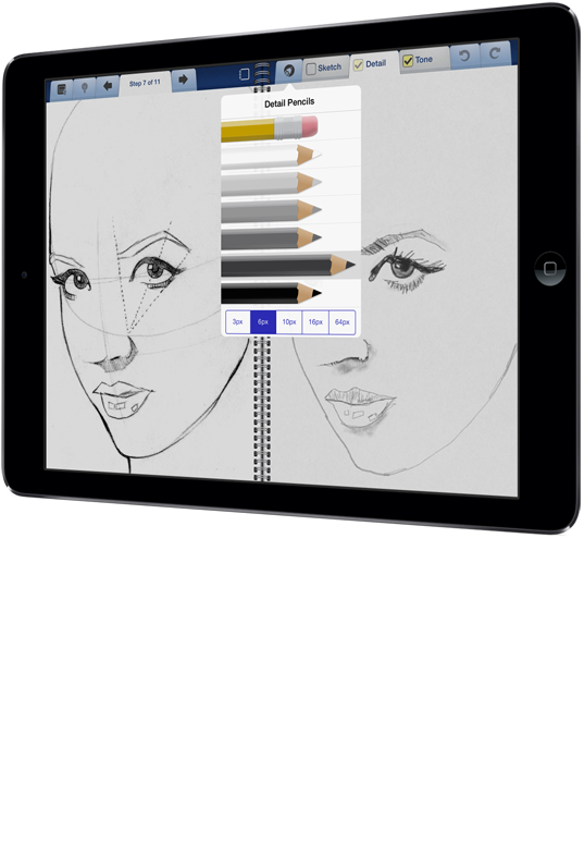 Drawing tab sketchbook. Interactive for ipad screenshot