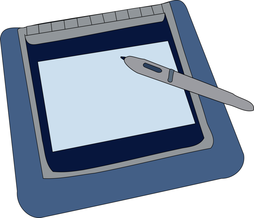 Drawing tablety computer. Digital writing graphics tablets
