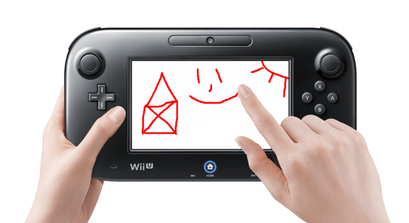Drawing technology video game. Turn your wii u