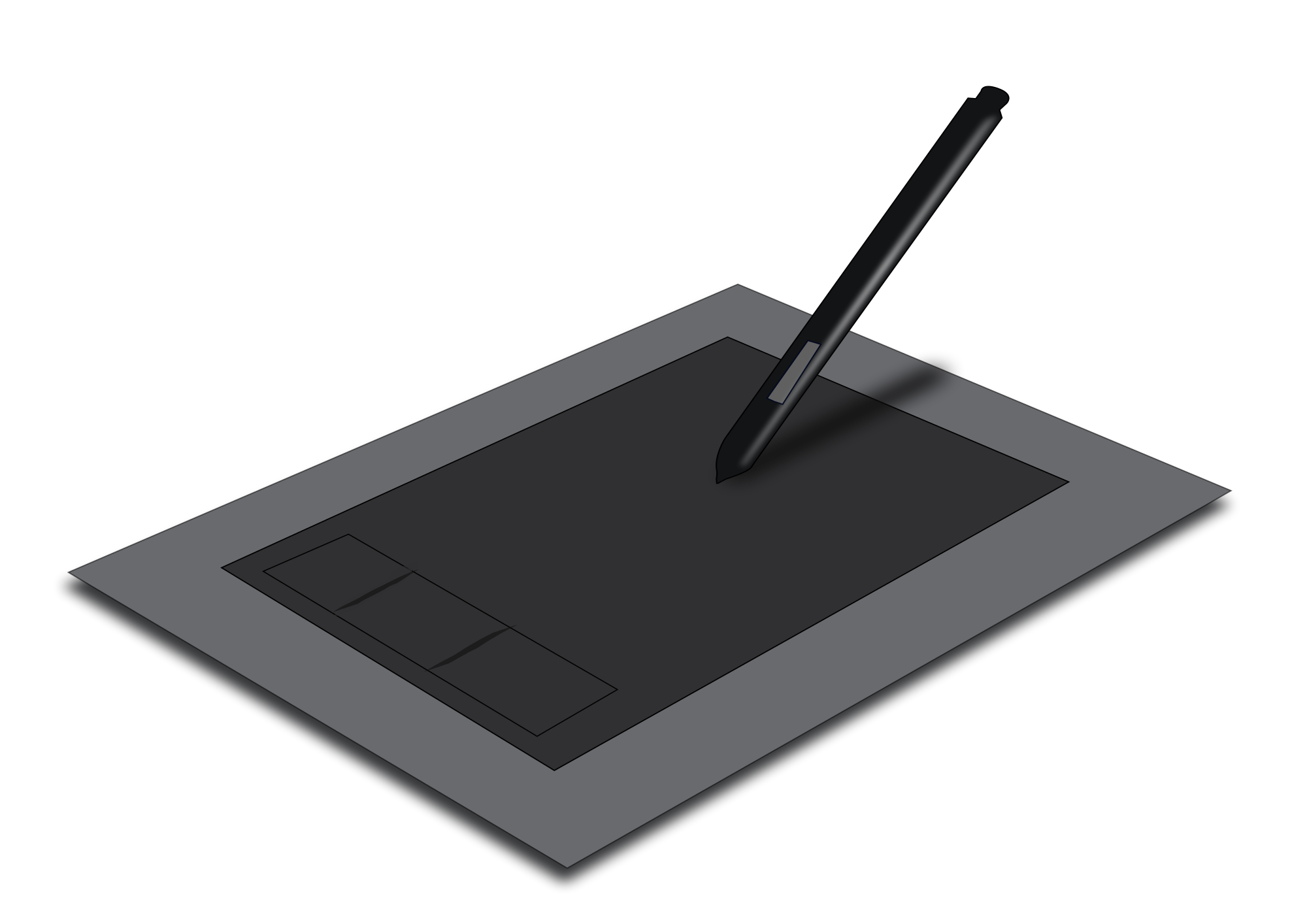 Drawing tablety transparent. Collection of tablet