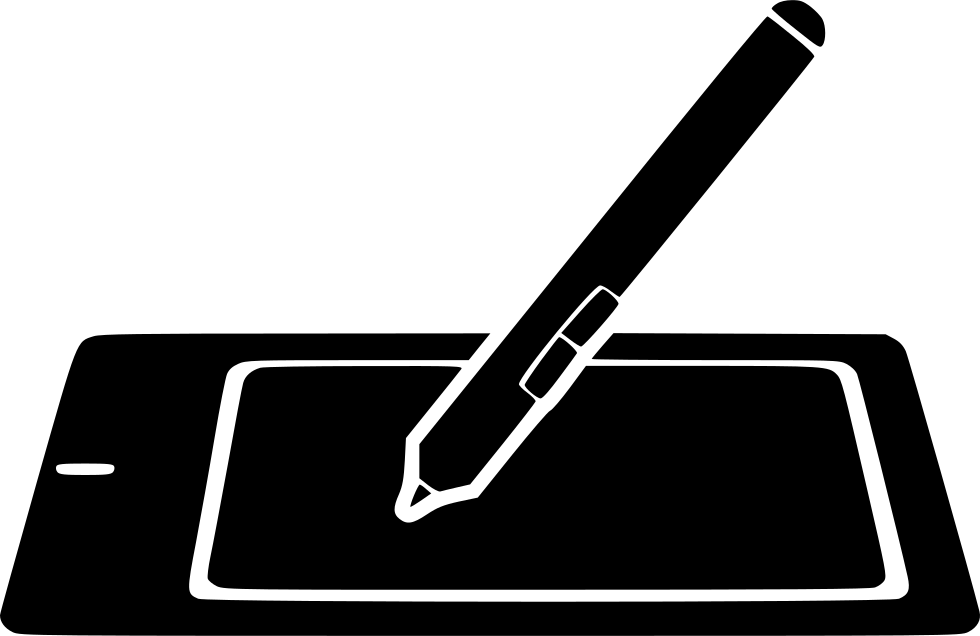 Drawing tablety white. Graphic tablet pencil draw