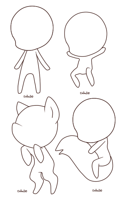 Chibi base by eelball. Drawing resources graphic free download