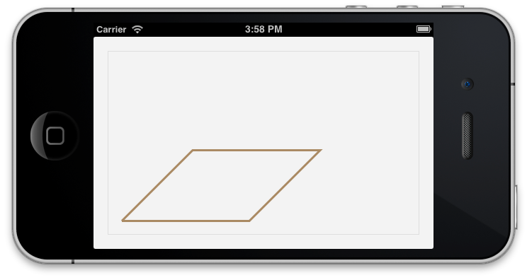 Stroke drawing different. Ios a polygon with