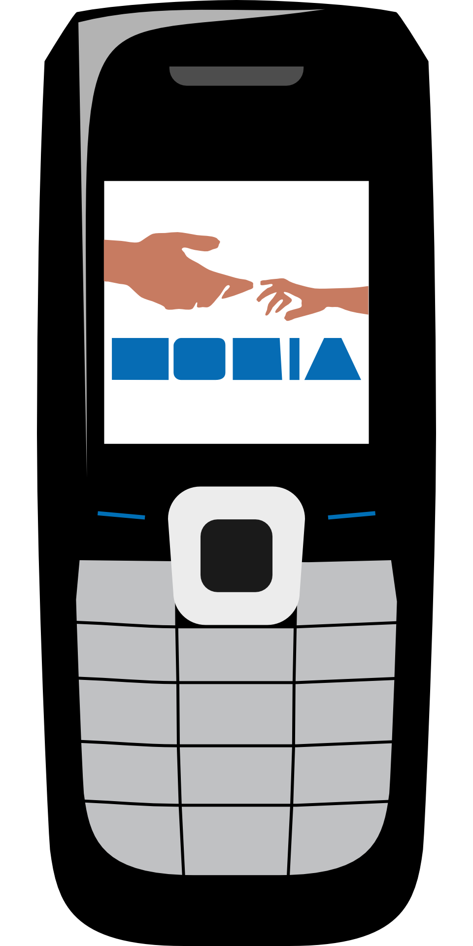Drawing technology communication. Nokia symbol cellphone mobile