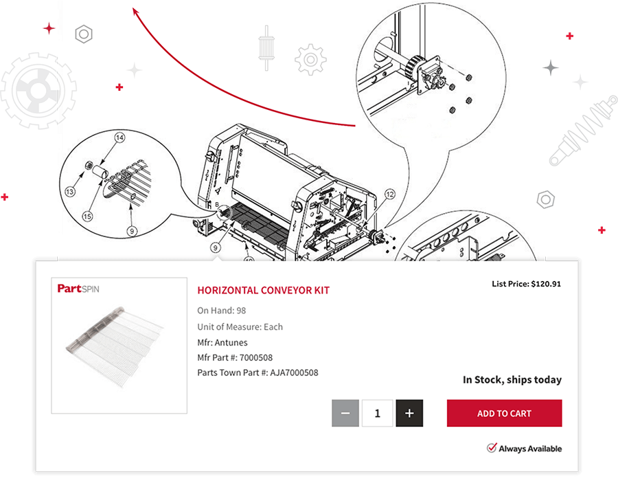 Kettle drawing exploded. Interactive diagrams parts town