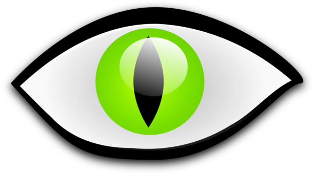 Drawing technology eye. Color girl green free