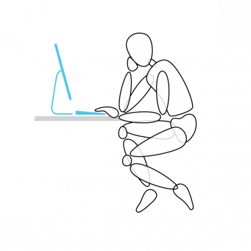 How modern technology is. Posture drawing sketch vector royalty free stock