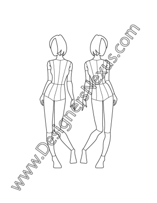 Politics drawing meaningful. Childrens fashion croqui template