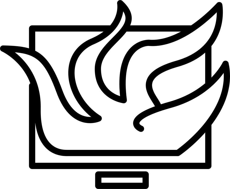 Drawing tentacles. Computer monitor with svg