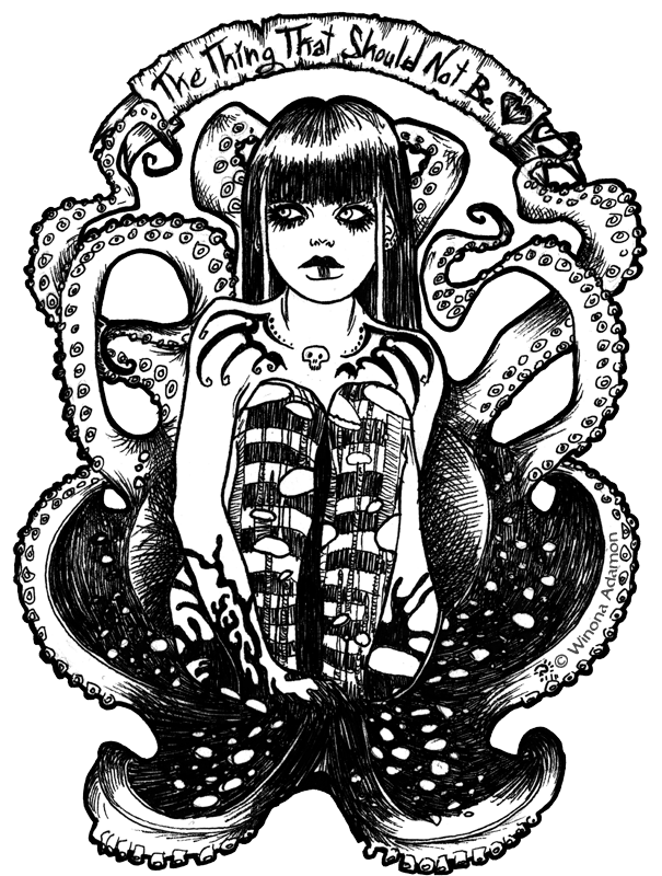 Drawing tentacles. The thing that shouldn