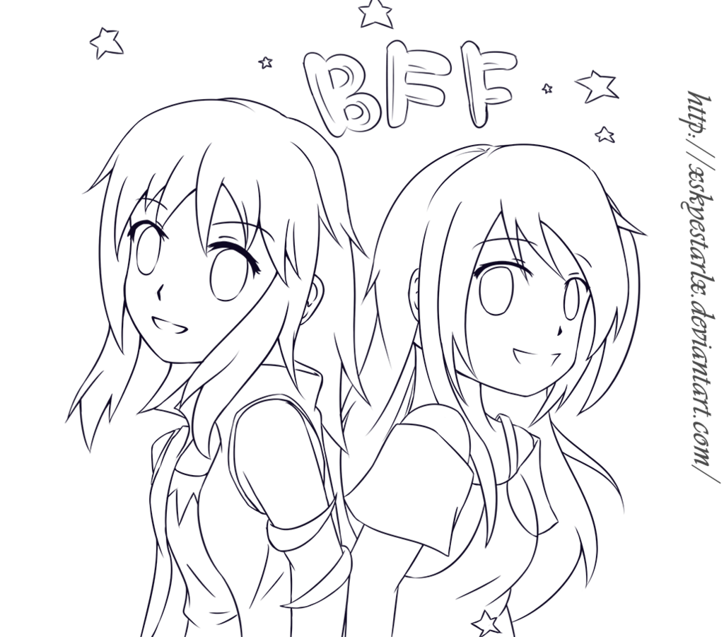 Drawing the bff. Request naomi by syea
