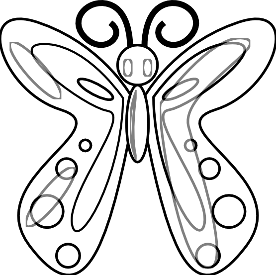 Drawing thing black and white. Butterfly at getdrawings com