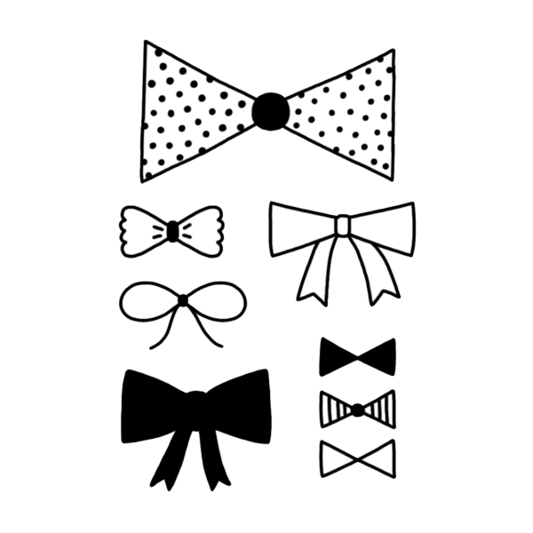 Drawing ties bow tie. This temporary tattoos for