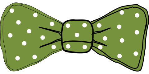 Drawing ties bow tie. Green photo prop template