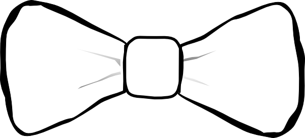 Drawing ties simple. Collection of free bowtie