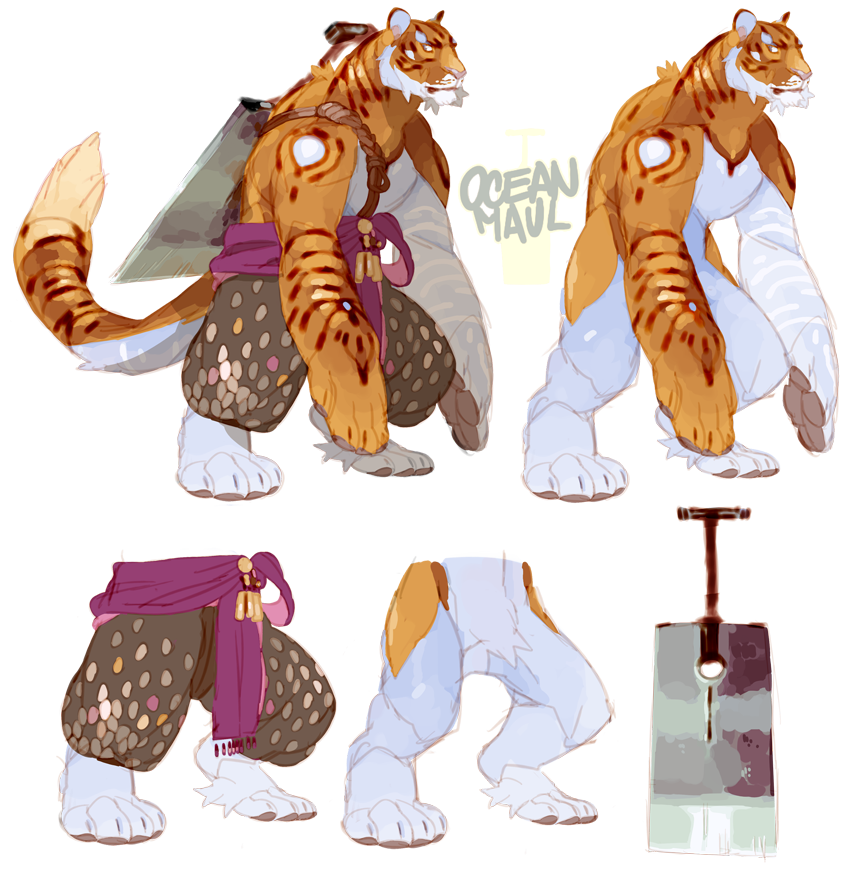 Drawing tigers humanoid. Tiger warrior perhaps