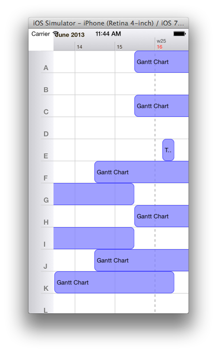 Drawing timelines gantt chart. How can i draw