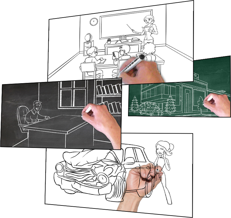 Drawing poser sketching. Doodly easily create whiteboard