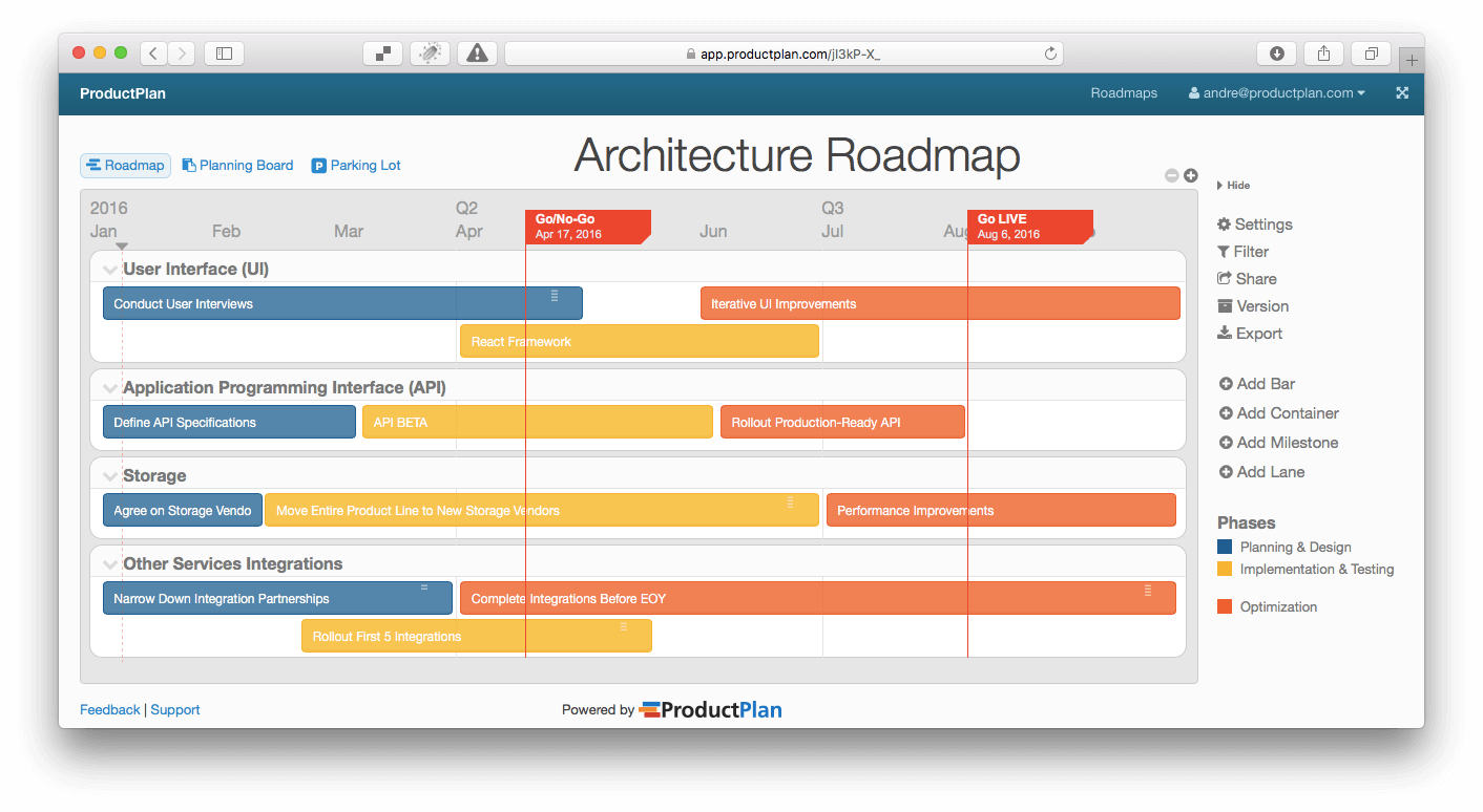 Drawing timelines road. Three example technology roadmap