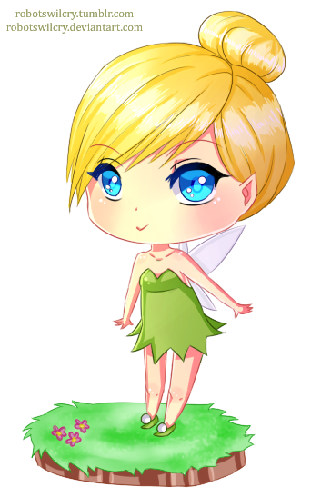 Drawing tinkerbell anime. Chibi by robotswilcry on