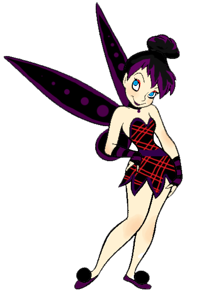 Drawing tinkerbell goth. Gothic by ivyazimuth on