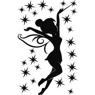 Drawing tinkerbell silhouette. Pics for tattoo marathon