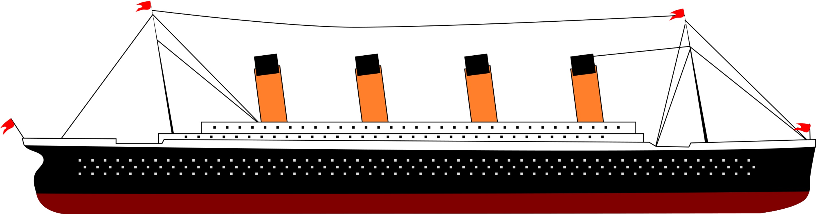 Drawing titanic. Sinking of the rms