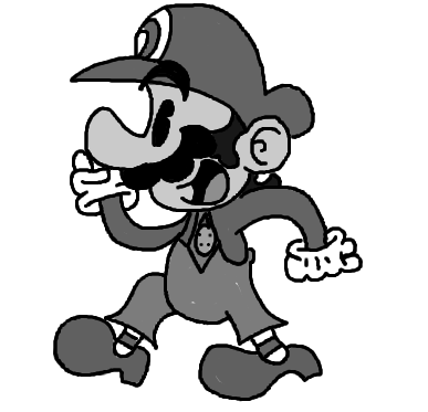 Drawing toons mario. S style super