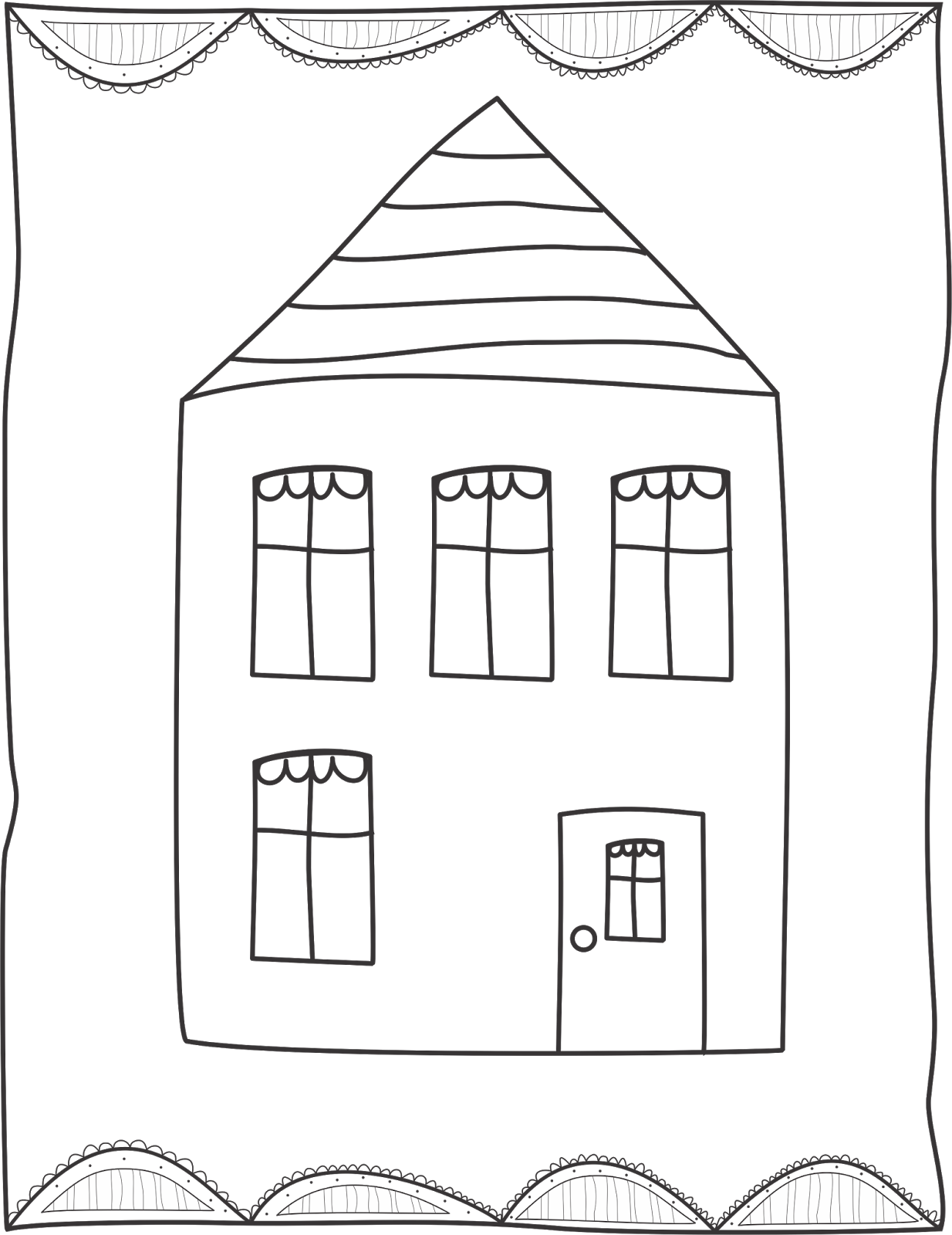 Drawing tornadoes house. Tornado classroom game you