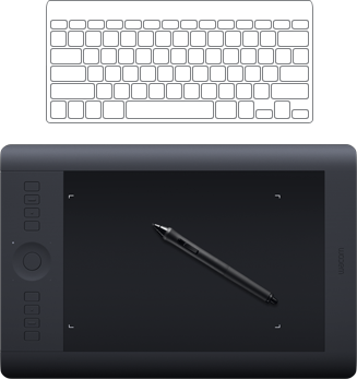 Drawing touchpad. Wacom board intuos pro