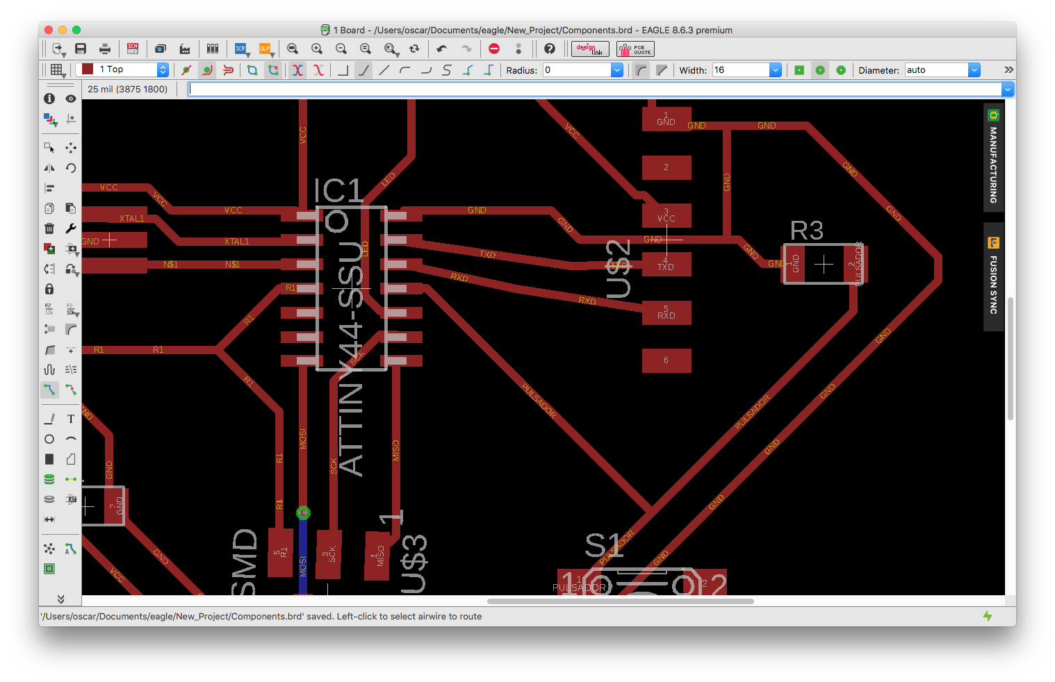Drawing traces engineering. Oscar mas then i