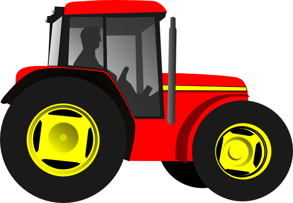 Drawing tractors land transport. Tractor clipart for kids