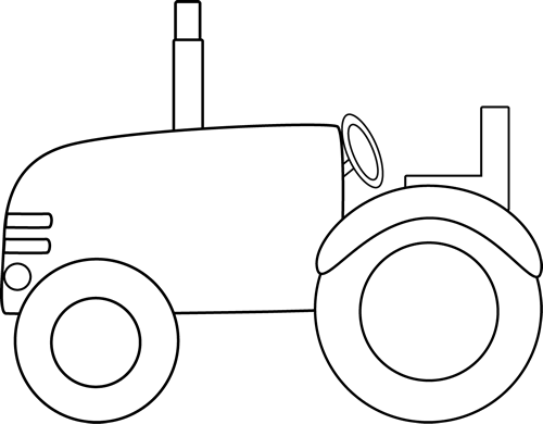 Drawing tractors black and white. Free tractor cliparts download