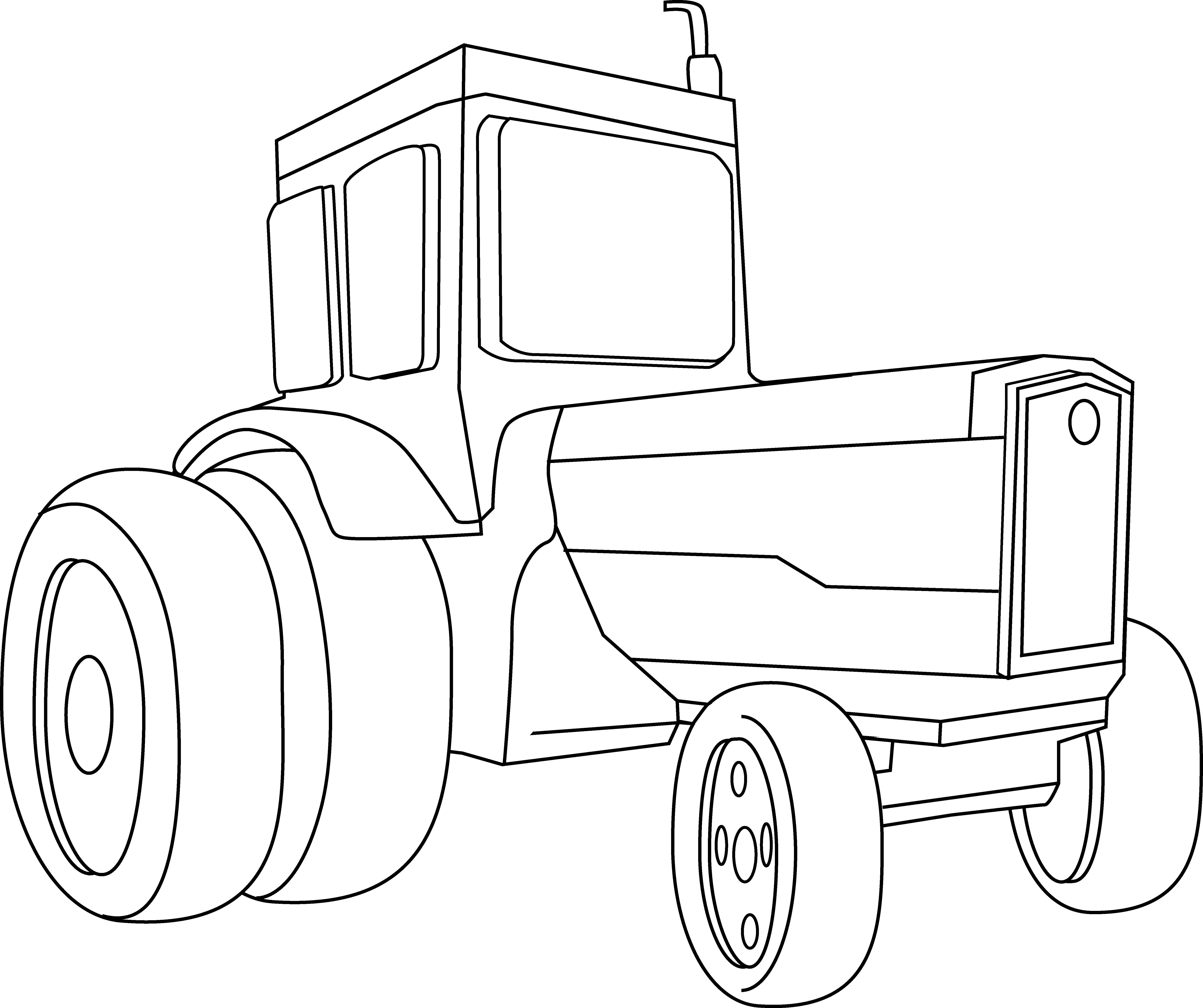 Drawing tractors coloring. Tractor page free clip