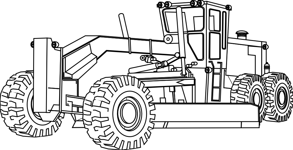Drawing tractors coloring page. Pics of heavy equipment