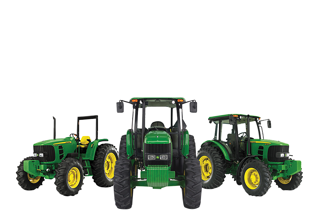 Drawing tractors articulated. Green iron equipment john