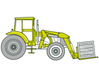 Drawing tractors articulated. Safe use of guidelines