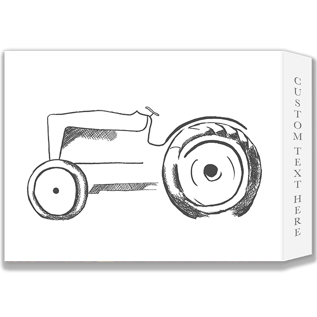 Drawing tractors black and white. Hand drawn tractor bushels