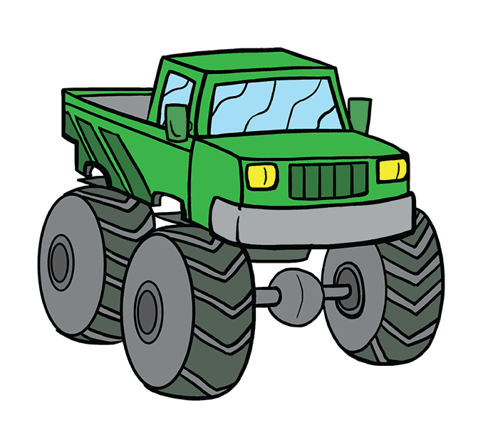 Drawing tractors kid. How to draw a
