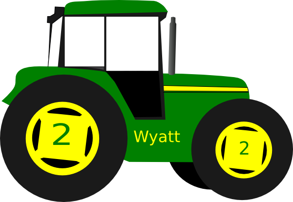Drawing tractors kid. Tractor clipart for kids