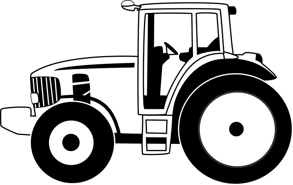Drawing tractors outline. U t tractor spare