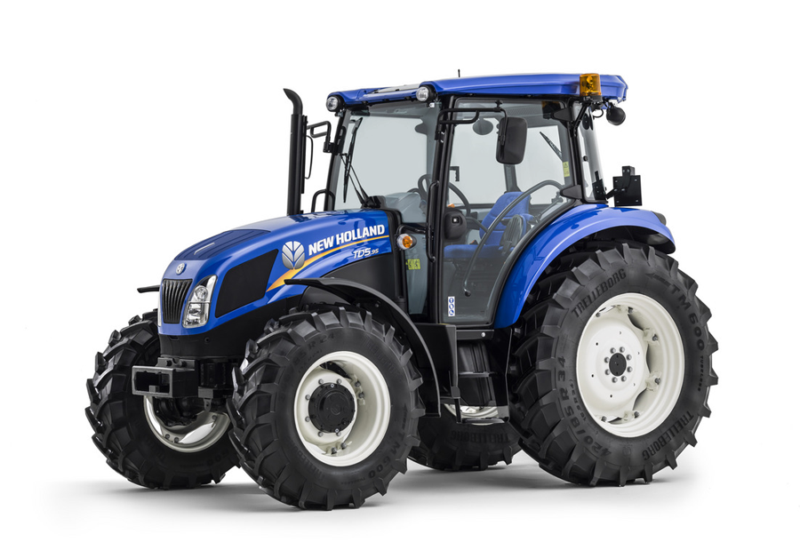 Drawing tractors big tractor. New holland agricultural td