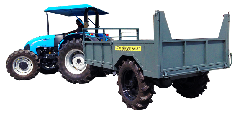 Drawing tractors tractor trolley. Pto driven trailer specialised