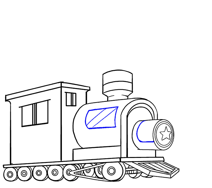 Drawing train. How to draw a