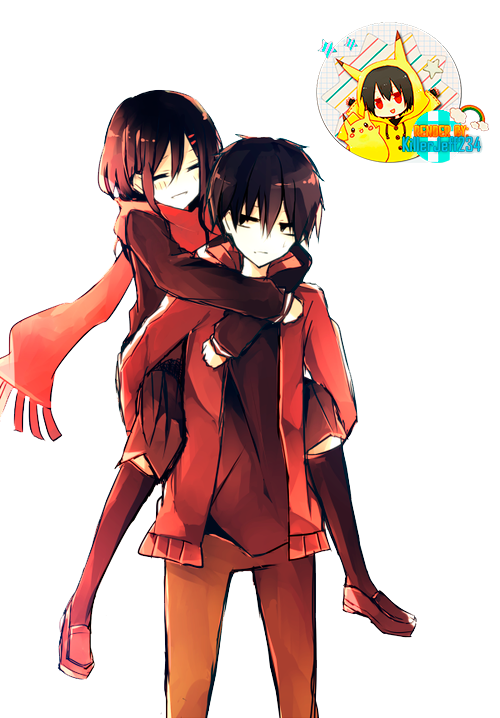Drawing train anime. Render kagerou project by