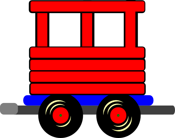 Drawing train cart. Collection of free coboose