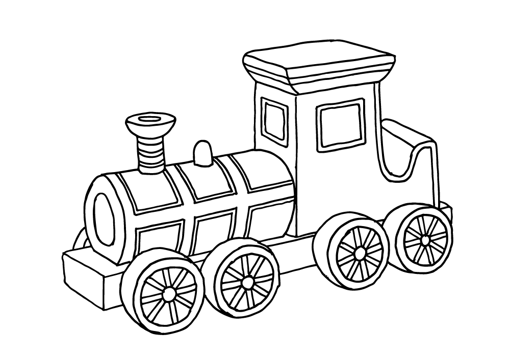 Drawing Train Cool Transparent Clipart Free Download
