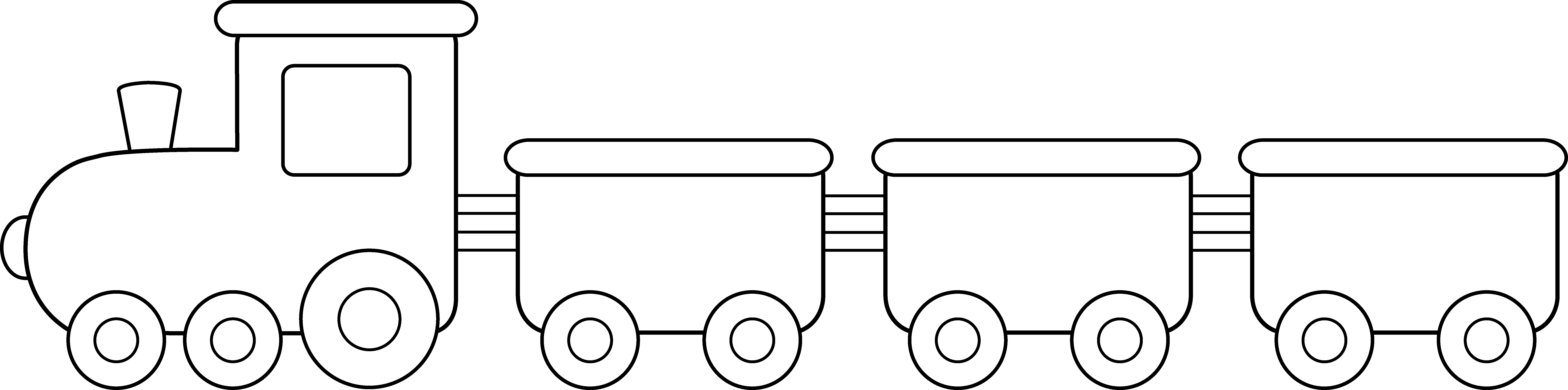Drawing train cute. Collection of simple