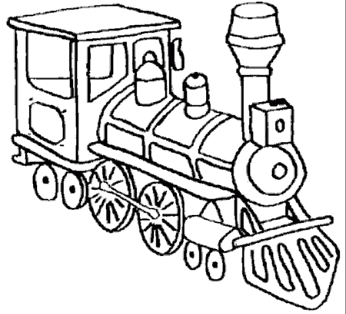 Drawing train old. A head of very