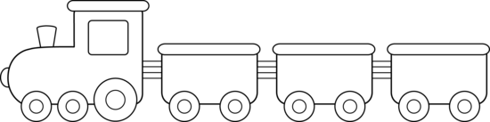 Drawing train outline. Collection of line